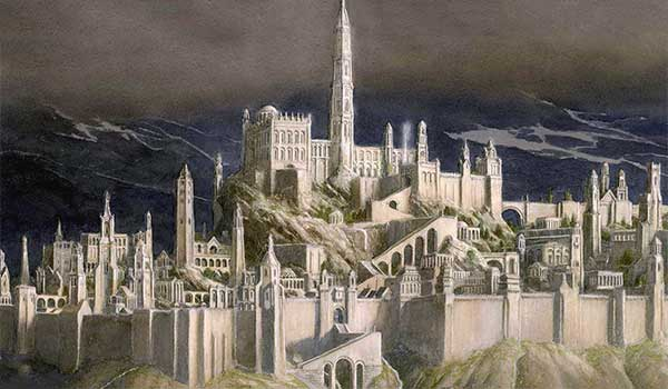 tolkien gondolin Illustrated by Alan Lee