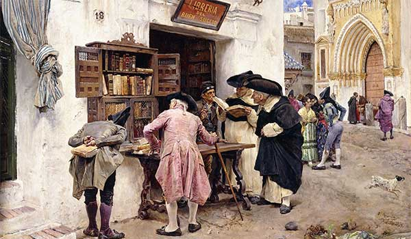 The Bibliophiles 1879 by Luis Jimenez y Aranda